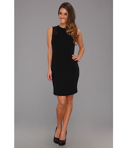 Rochii Calvin Klein - Sheer Inset Dress CD3E2E74 - Black