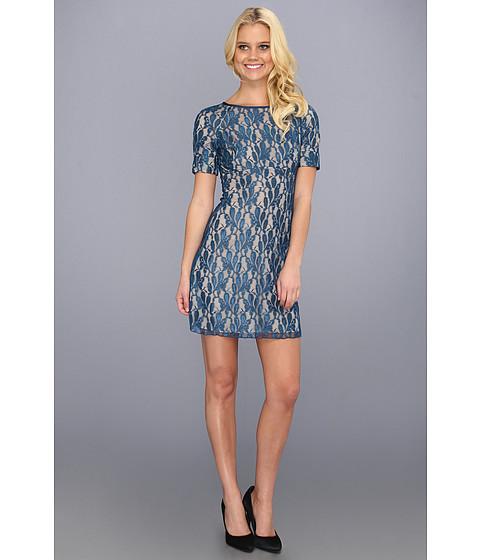 Rochii ABS Allen Schwartz - Boatneck Lace Shift Dress - Ocean