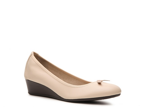 Balerini Hush Puppies - Candid Leather Wedge Pump - Ivory