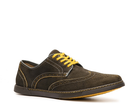 Pantofi Hush Puppies - Carver Wingtip Oxford - Olive Green/Yellow
