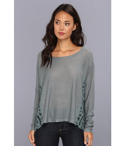 Bluze Free People - Love Me Do Pullover - Bay Blue