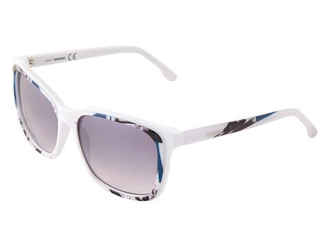 Ochelari Diesel - DL0008 - White Black Blue/Grey Silver Mirror Shaded