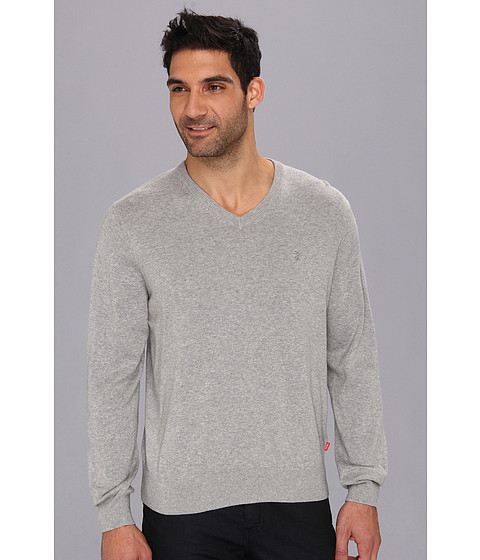 Pulovere IZOD - 12 GG Essential V-Neck Sweater - Light Grey Heather