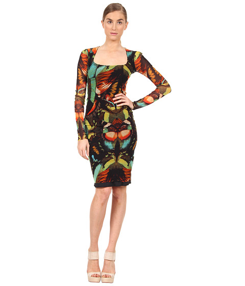 Rochii elegante: Rochie Jean Paul Gaultier - Butterfly Long Sleeve Panel Dress - 752