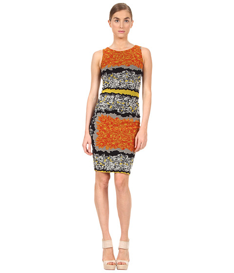 Rochii elegante: Rochie Jean Paul Gaultier - Floral Sleeveless Fitted Dress - 154