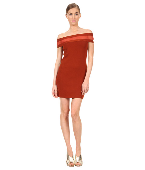 Rochii elegante: Rochie Jean Paul Gaultier - Solid Merino Off Shoulder with Inset Dress - 239