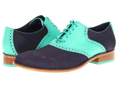 Pantofi Cole Haan - Air Colton Saddle - Peacoat Nubuck/Mint Leaf
