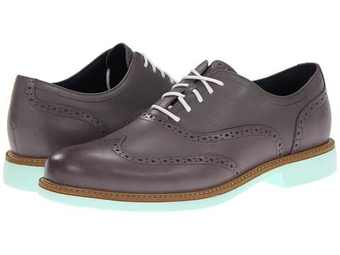 Pantofi Cole Haan - Great Jones Wingtip - Ironstone/Ironstone Grain