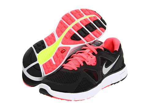Adidasi Nike - Lunarglide+ 3 Breathe - Black/White/Hot Punch/Metallic Silver