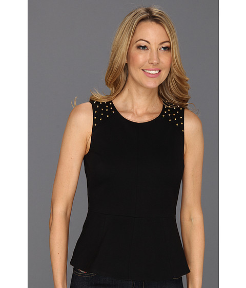 Bluze Vince Camuto - Embellished Shoulder Peplum - Rich Black