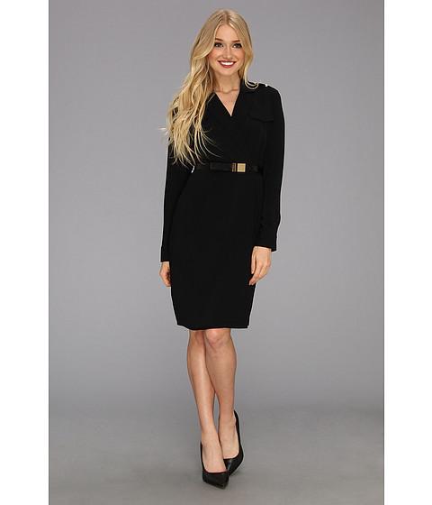 Rochii elegante: Rochie Calvin Klein - L/S Belted Shirt Dress - Black