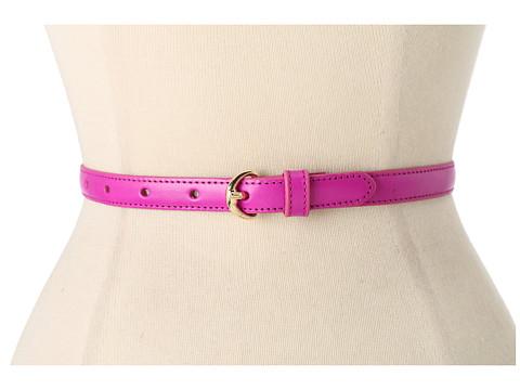 Curele LAUREN Ralph Lauren - Skinny Vachetta Belt With Equestrian Endbar - Crocus