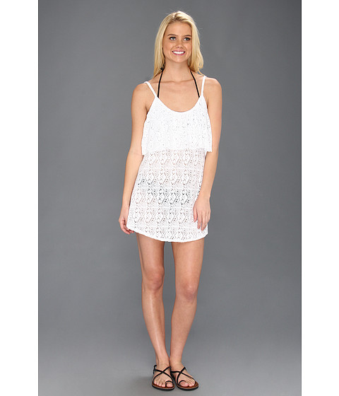 Rochii elegante: Rochie Roxy - Coastal Switch Crochet Dress Cover-Up - Sea Salt