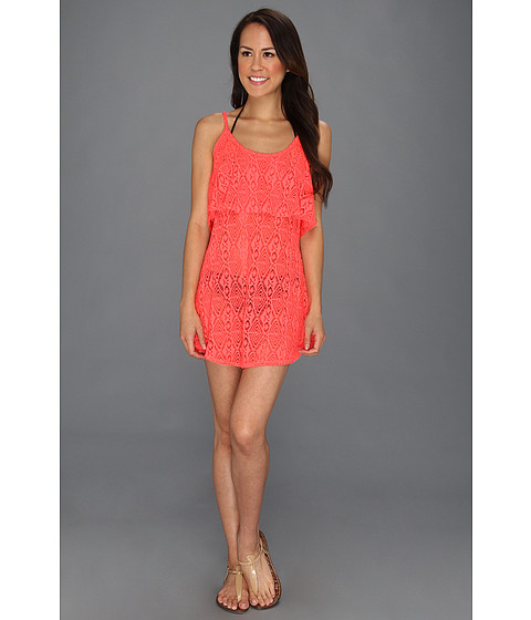 Rochii elegante: Rochie Roxy - Coastal Switch Crochet Dress Cover-Up - Watermelon