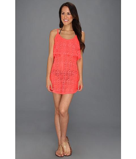 Rochii elegante: Rochie Roxy - Coastal Switch Crochet Dress Cover-Up - Watermelon