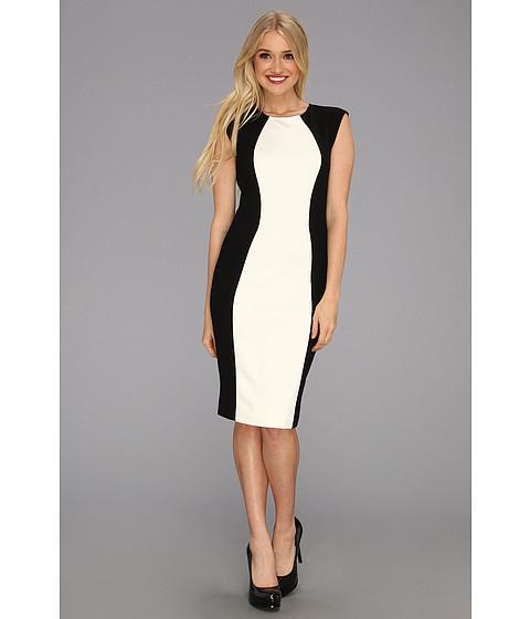 Rochii Donna Morgan - Hourglass Colorblock Sheath Dress - Black/White