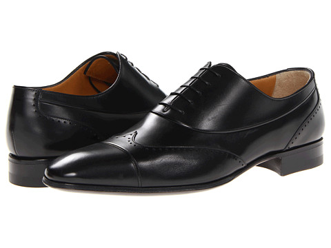 Pantofi A. Testoni - Deluxe Calf Wing Tip - Nero