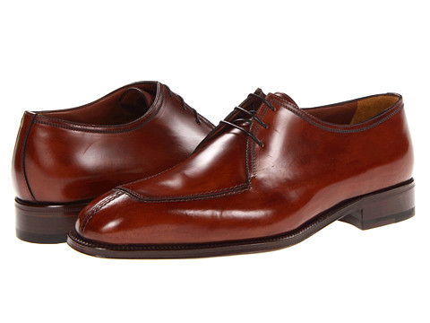 Pantofi A. Testoni - Washed Calf Apron Toe Oxford - Caramel