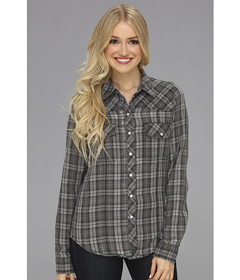 Camasi Roxy - Saddleback Longsleeve Shirt - True Black Plaid