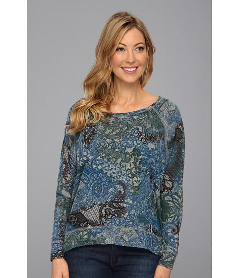 Bluze DKNY - Tatoo Lace Print Pullover - Smoke Grey Heather