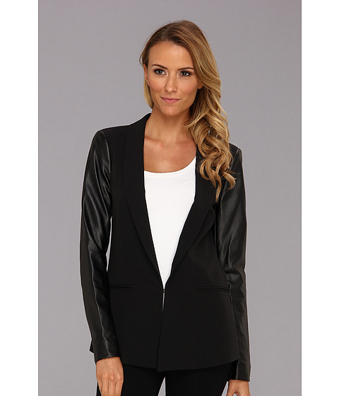 Sacouri DKNY - Long Sleeve Shawl Collar Blazer - Black