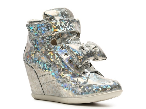 Adidasi Privileged - Privileges Amore Wedge Sneaker - Silver