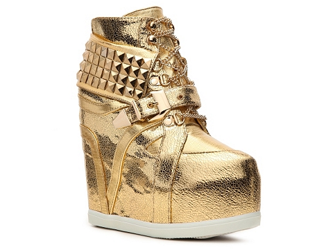 Adidasi Privileged - Vengeance Wedge Sneaker - Gold