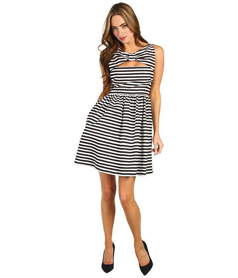 Rochii Kate Spade New York - All Wrapped Up Vivien Dress - Black/Clotted Cream Anna Stripe