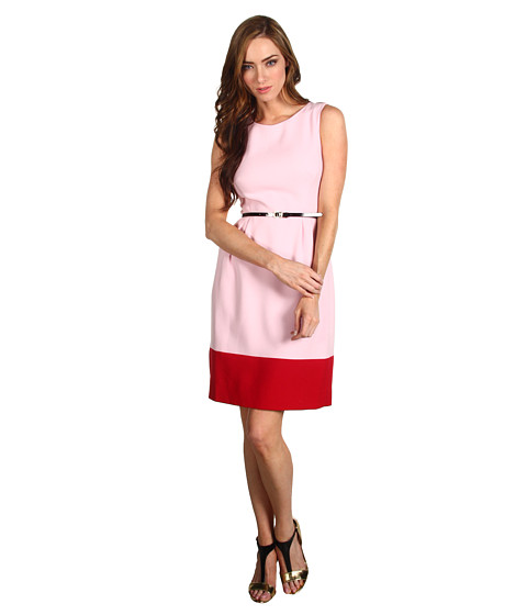 Rochii Kate Spade New York - Colorblock Tiff Dress - Balloon Pink/Deep Red