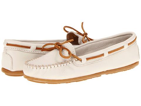 Balerini Minnetonka - Boat Moc - Off White Leather