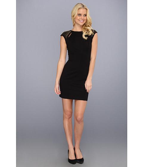 Rochii ABS Allen Schwartz - Studded Shoulder Dress - Black