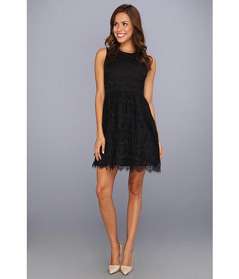 Rochii Jessica Simpson - Contrast Overlap Bodice Yoke Dress w/ Back Cut Out - Black