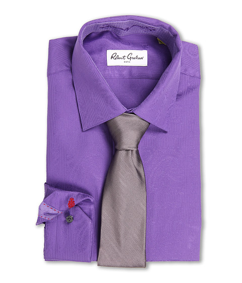 Camasi Robert Graham - Alex Dress Shirt - Purple