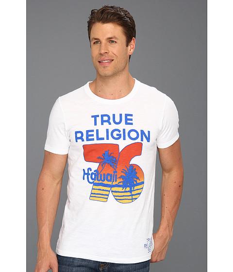 Tricouri True Religion - True Religion Hawaii 76 Graphic Tee - 09 White