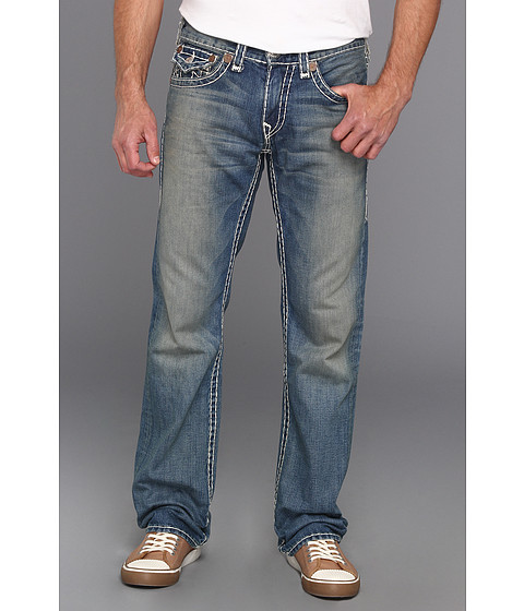 Blugi True Religion - Ricky Straight Natural Super T in Devers Canyon - Devers Canyon