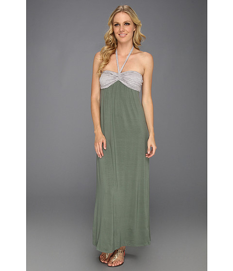 Rochii Splendid - Colorblock Maxi Dress - Camo Green