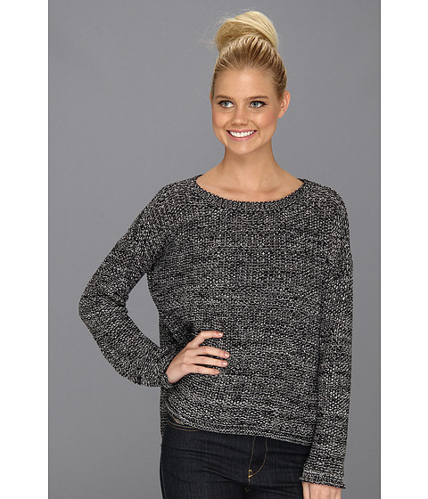 Pulovere Sanctuary - Marled Easy Sweater - Black