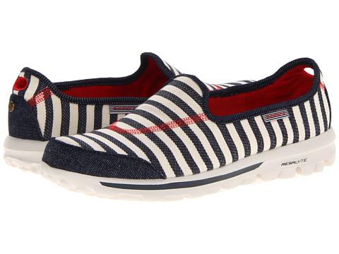 Adidasi SKECHERS - GoWalk - Americana - Natural/Navy