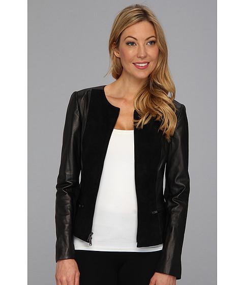 Sacouri DKNY - Long Sleeve Jacket Suede Panels - Black