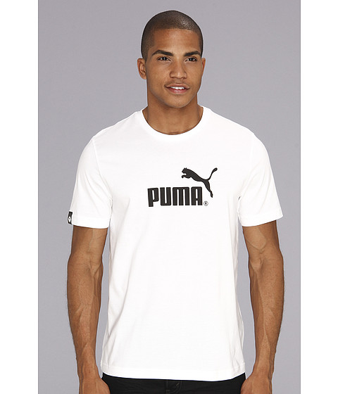 Tricouri PUMA - Large No. 1 Logo S/S Tee - White/Black
