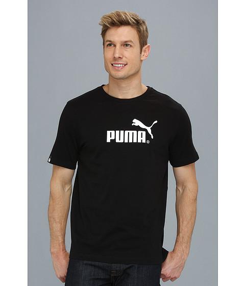 Tricouri PUMA - Large No. 1 Logo S/S Tee - Black/White
