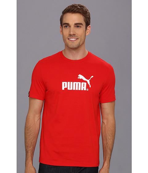 Tricouri PUMA - Large No. 1 Logo S/S Tee - Puma Red/White