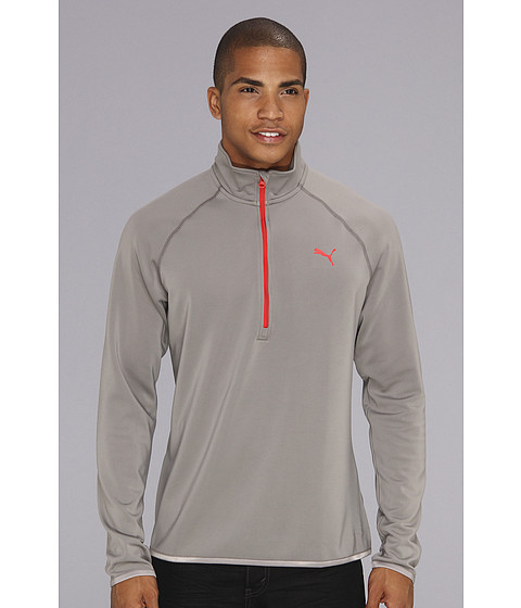 Bluze PUMA - Technical Quarter Zip - Steel Grey/Puma Red