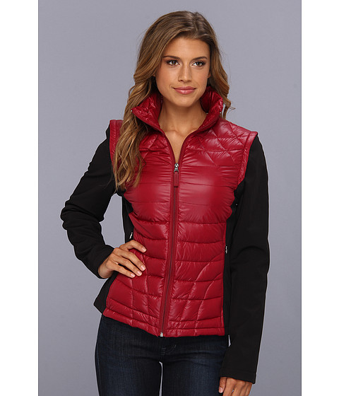 Jachete Calvin Klein - Packable Down w/ Zip Off Soft Shell Sleeves - Ruby/Black