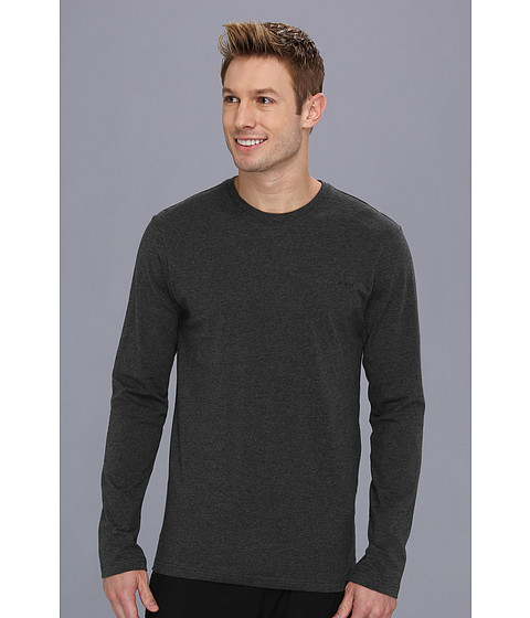 Lenjerie Calvin Klein - Long Sleeve Logo T-Shirt - Charcoal Heather