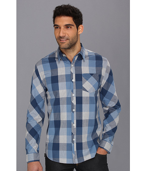 Camasi DKNY - L/S Oversized Heather Gingham Shirt-Casual Press - Captains Blue