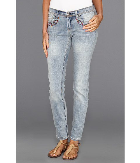 Blugi Roxy - Sunburners Embellished Skinny Fit Jean in Faded Glory Wash - Faded Glory Wash