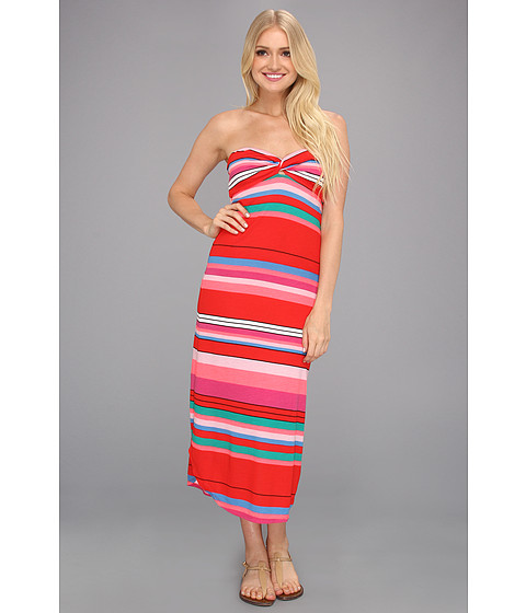 Rochii Roxy - Entangled Dress - Firey Red Stripe