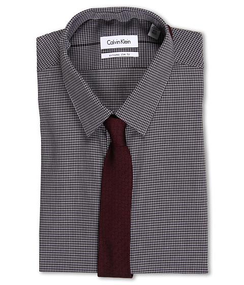 Tricouri Calvin Klein - Slim Fit Grid Check Dress Shirt - Dusk