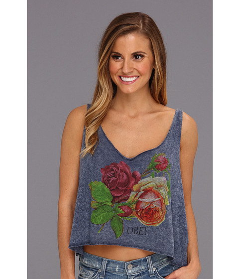 Tricouri Obey - Bed Of Roses Tank - Black Iris